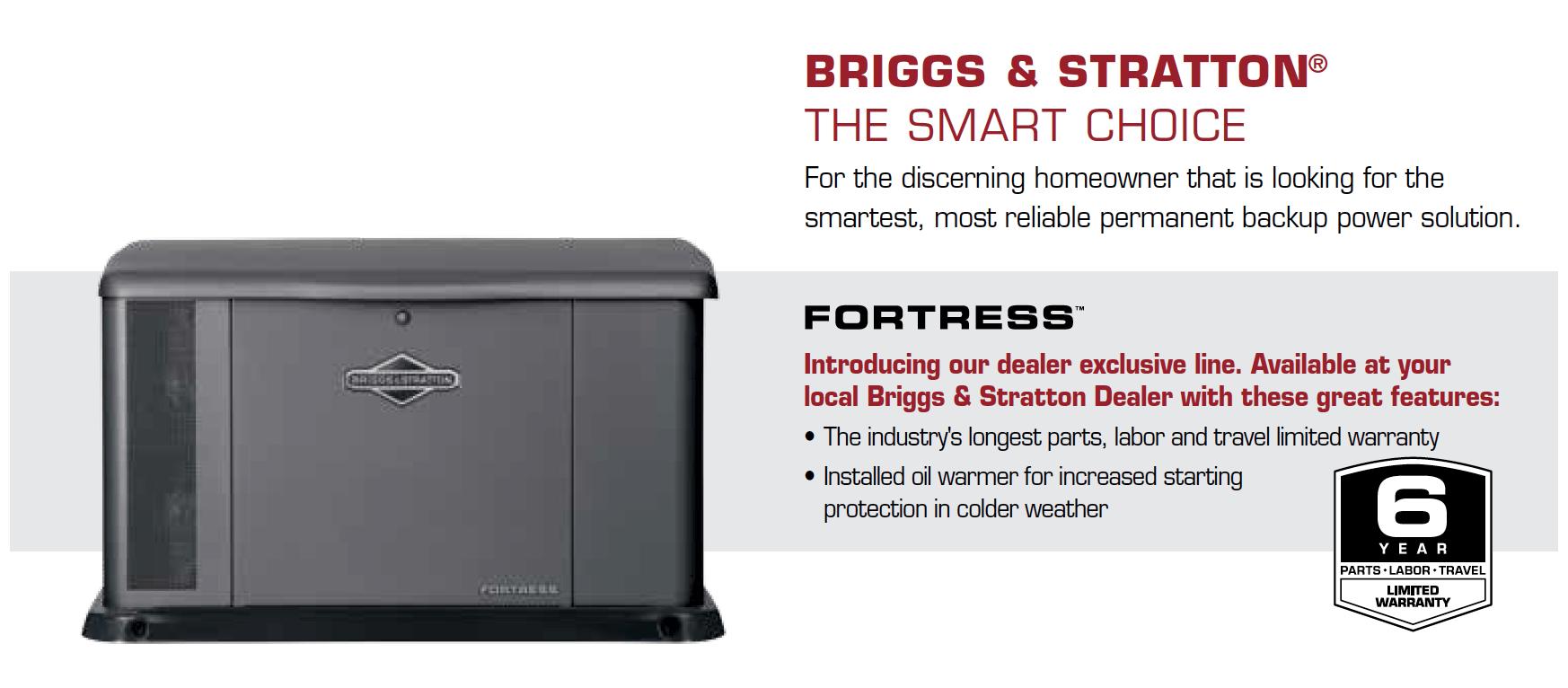 Briggs & Stratton 20 kW Fortress Home Generator System - Bay